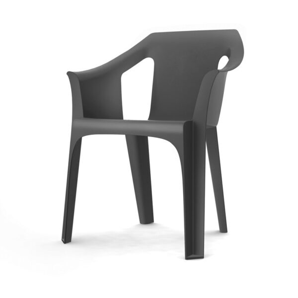 Silla Cool color gris oscuro